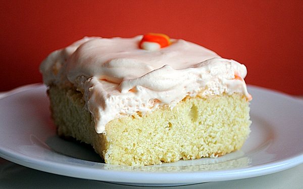 Candy Corn Tres Leches Cake