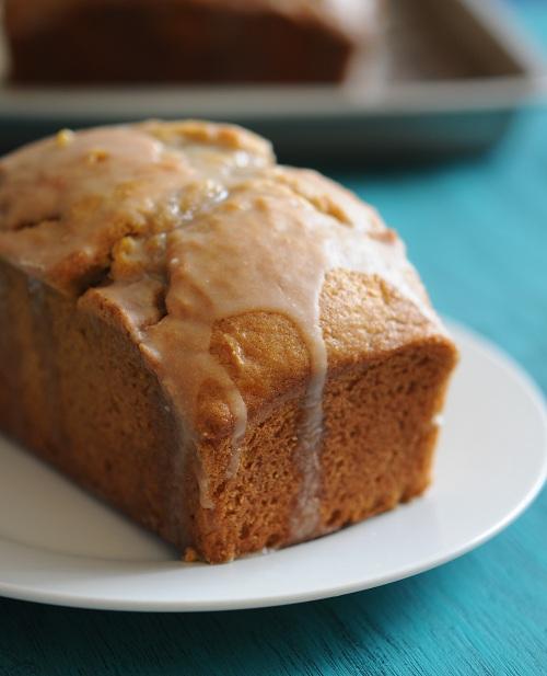 Pumpkin Pound Cake with Maple Glaze