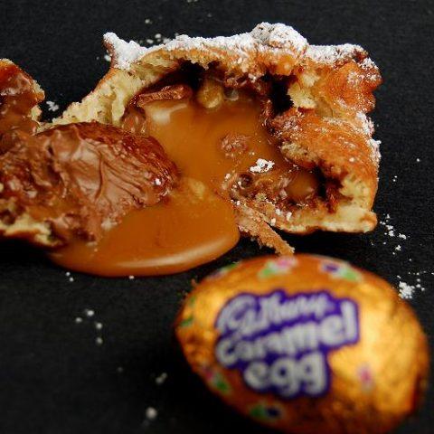 Deep Fried Cadbury Caramel Eggs
