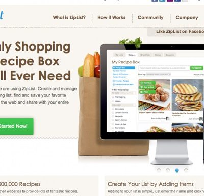 Saving and Printing Recipes on Culinary Concoctions by Peabody using Ziplist…