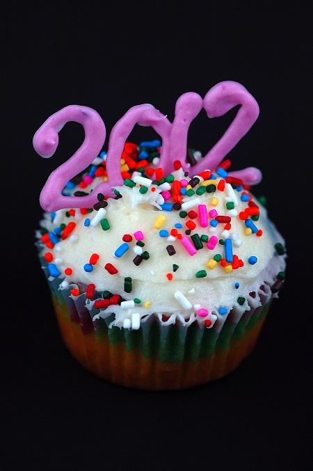 new years cupcake