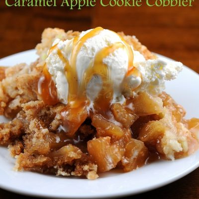 Caramel Apple Cookie Cobbler….