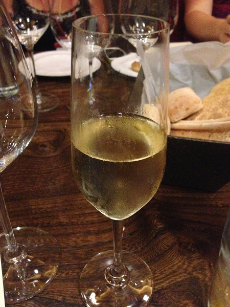 John Howie restaurants make their own champagne. It was lovely.