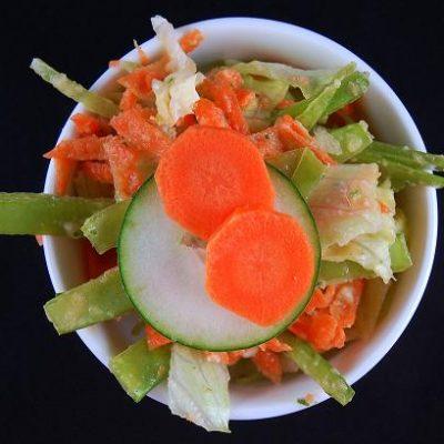 We interupt your dessert, with a salad….