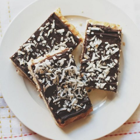 Samoas Lofthouse Cookie Bars