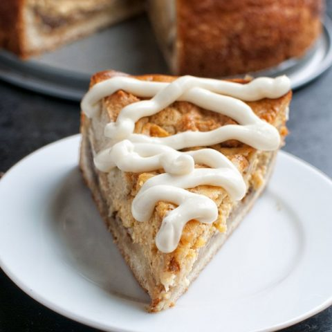 Pumpkin Cinnamon Roll Cheesecake