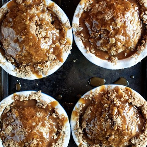 Cookie Butter Apple Crumble