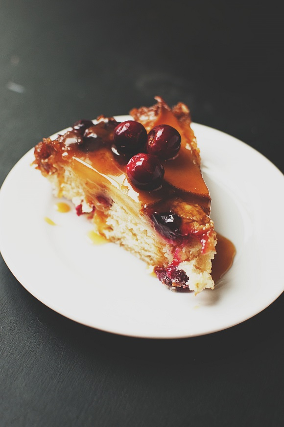Pear Cranberry Upside Down Cake 4