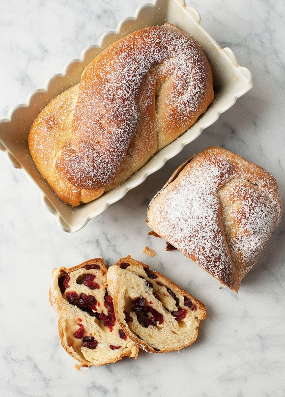 White Chocolate Cranberry Babka
