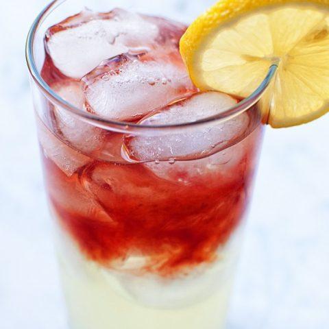 Boozy Huckleberry Lemonade Sipper