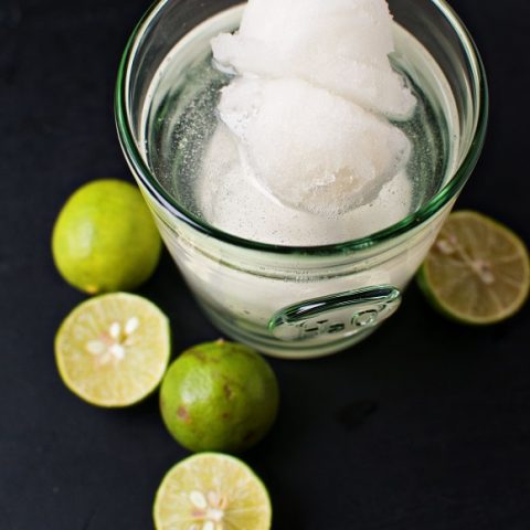 Key Lime Sorbet Tequila Cocktail