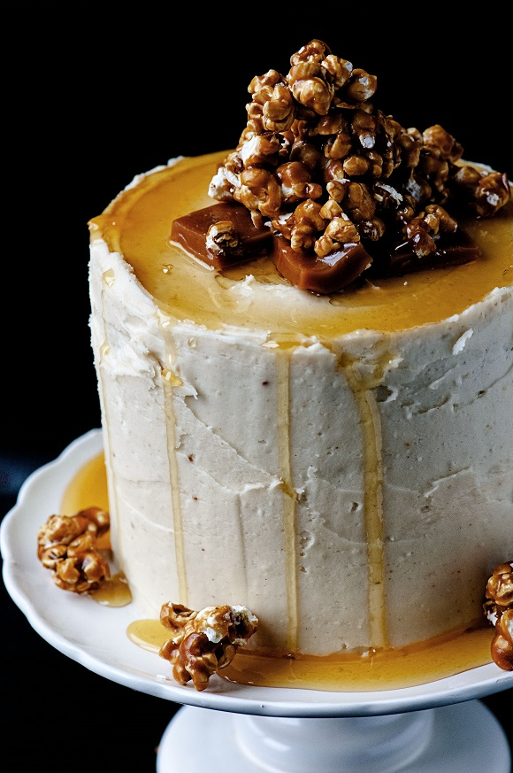 Caramel Corn Layer Cake 01