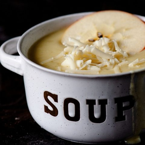 Apple White Cheddar Onion Soup