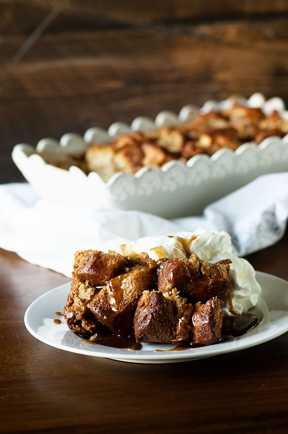 Monkey Bread Bread Pudding