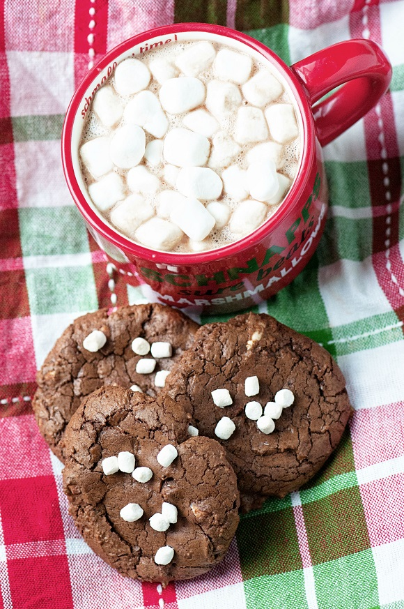 Hot Chocolate M&M Fudge Cookies 02