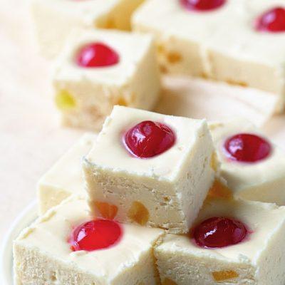 Pineapple Upside-Down Cake Fudge