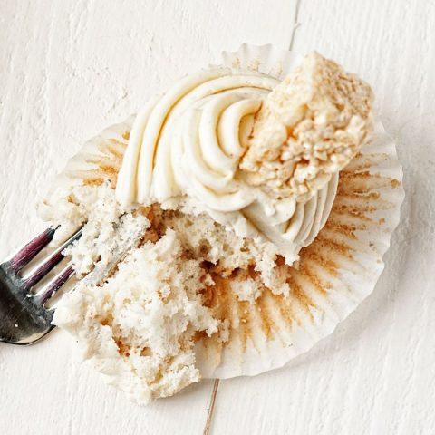 Vanilla Bean Rice Krispie Treat Cupcakes