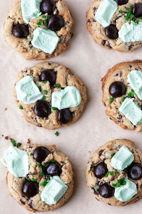 Overhead view Shamrock Mint Cookies