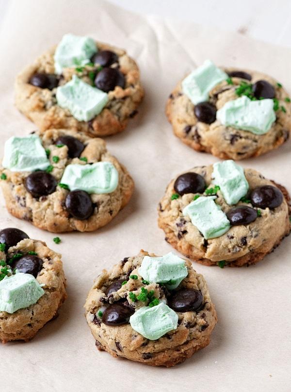 Side view Shamrock Mint Cookies