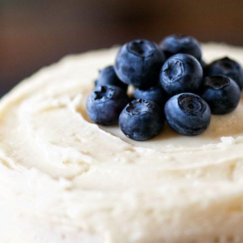 Lemon Blueberry Poppyseed Layer Cake