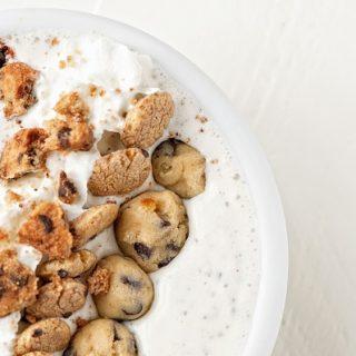 Chocolate Chip Cookie Milkshake Bowl