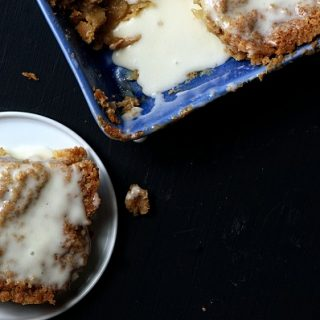 Iced Oatmeal Cookie Apple Cobbler