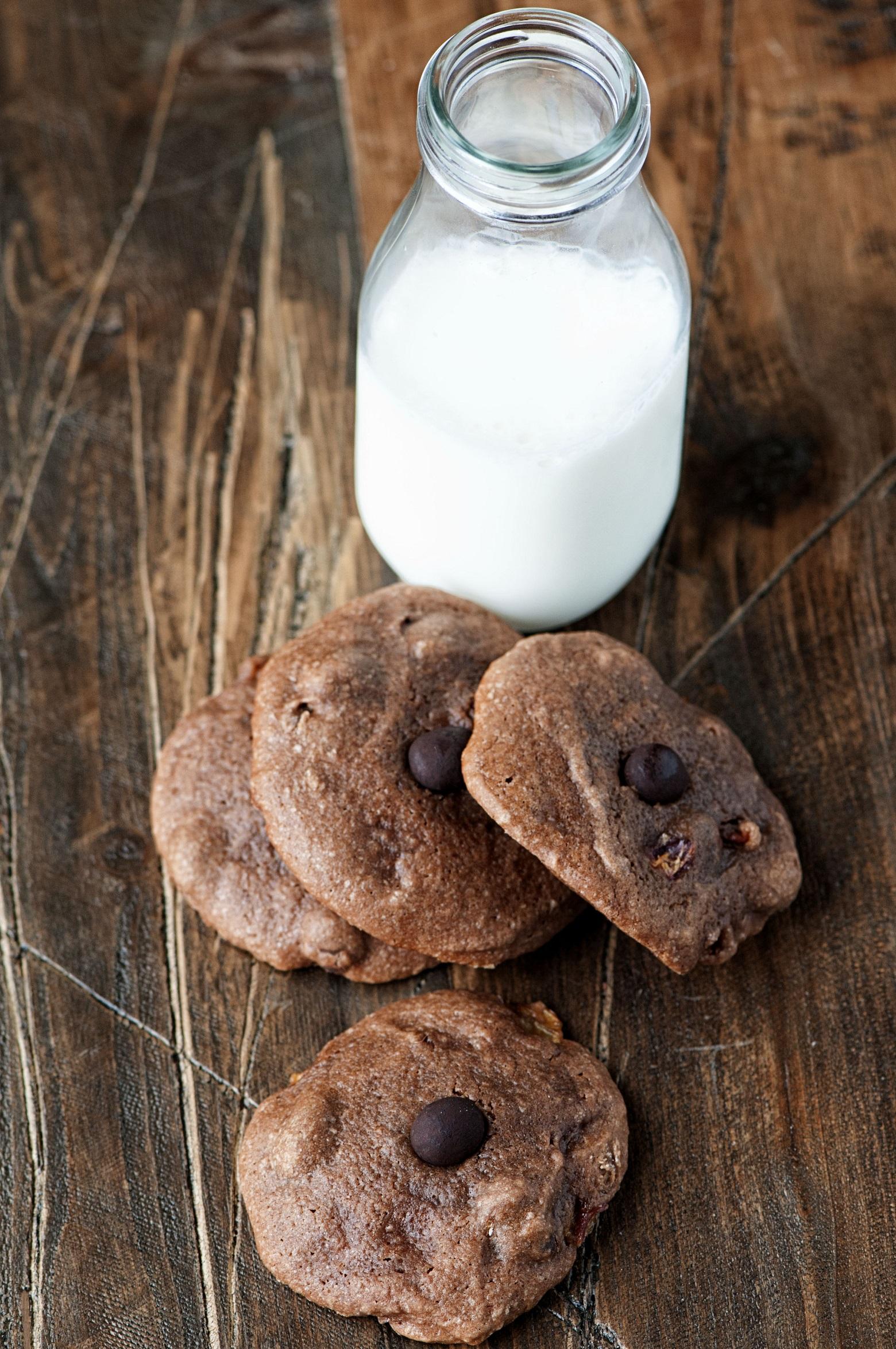 chocolate hazelnut cherry espresso cookies 002