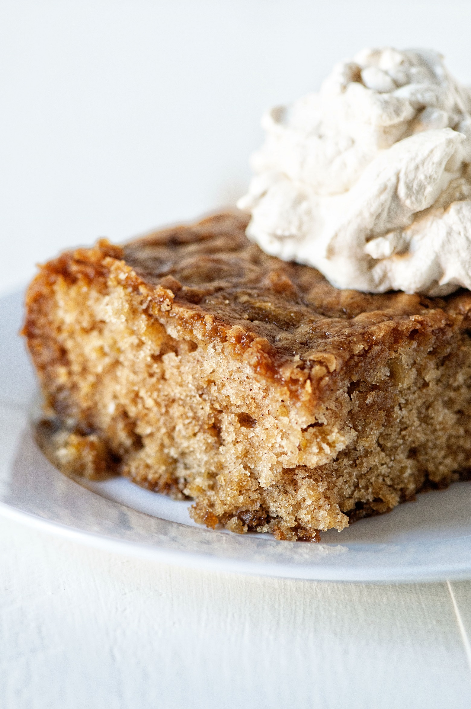 This Fireball Glazed Fresh Apple Cake is a moist spice cake ..