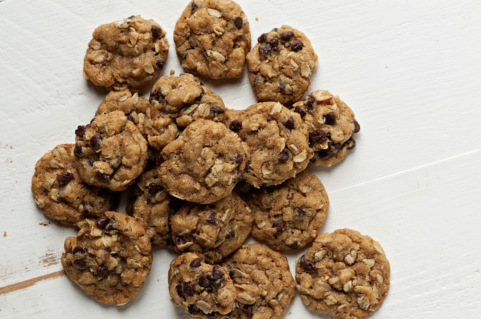 Small Batch Mini Oatmeal Chocolate Chip Cookies