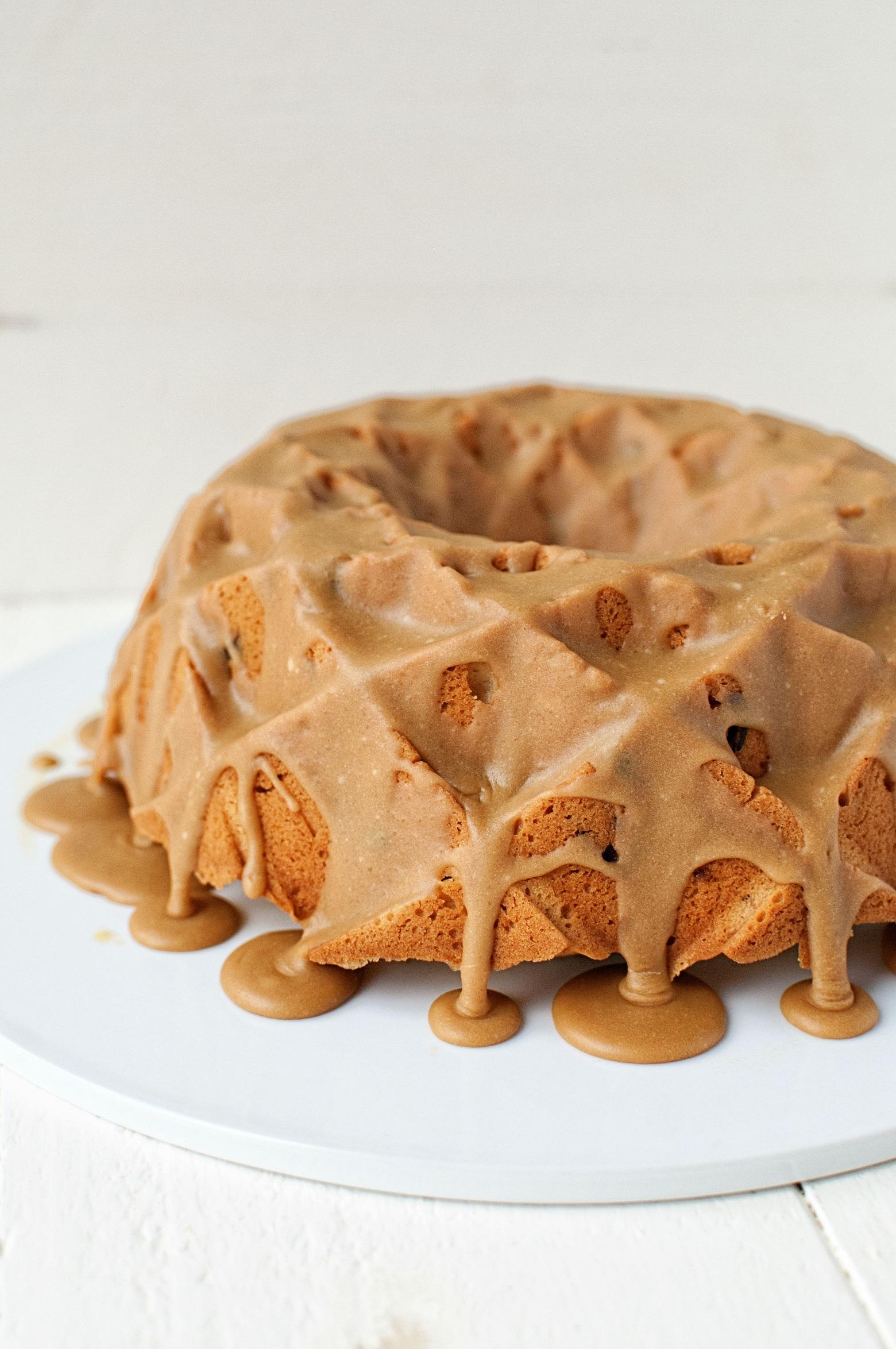 Caramel Cranberry Pound Cake