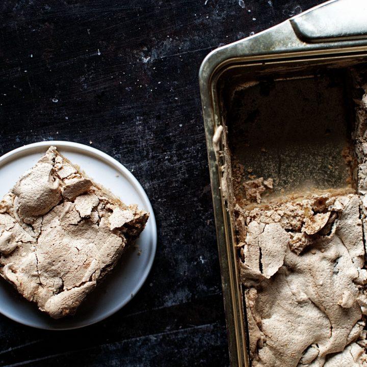 Butterscotch Walnut Meringue Bars