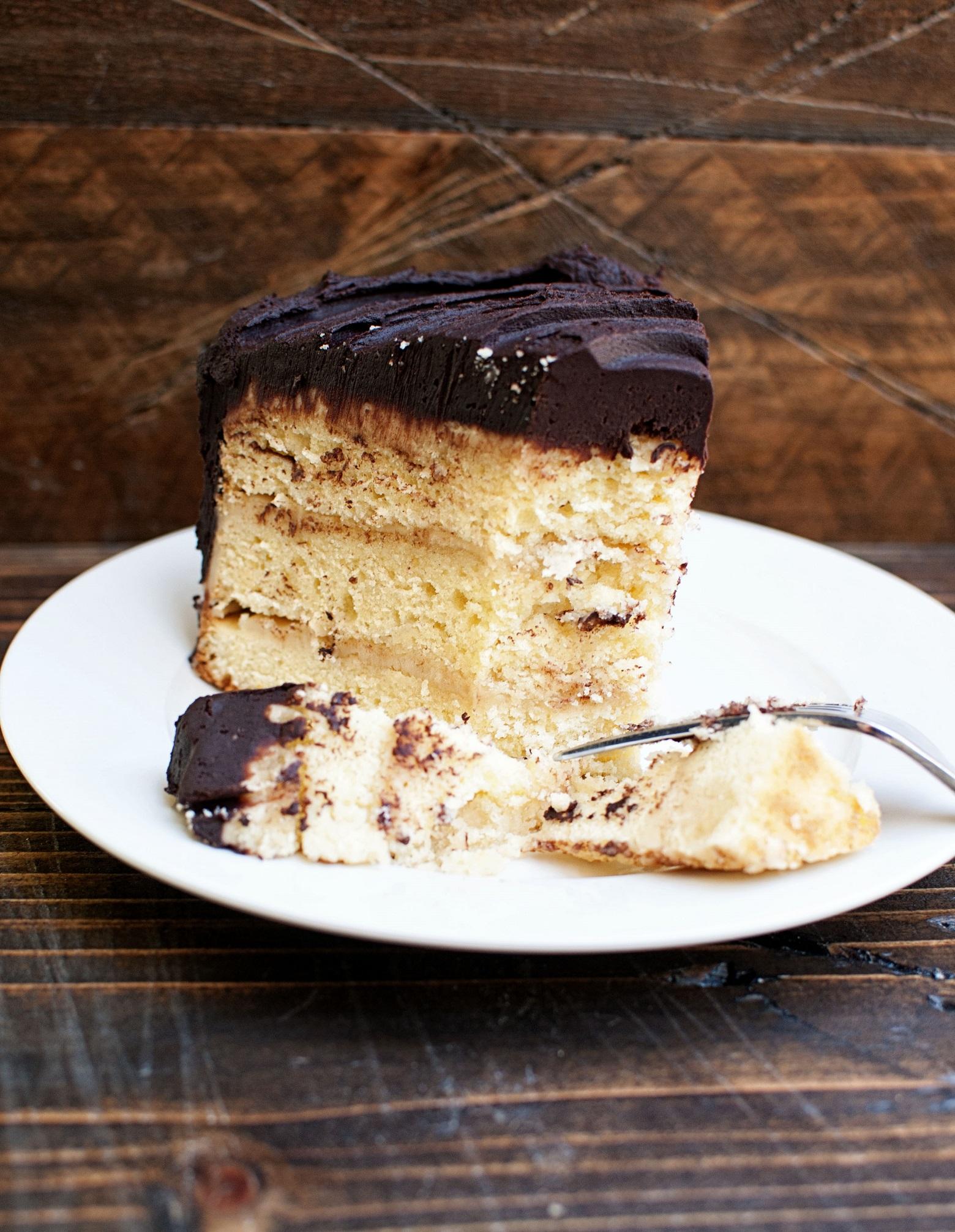 Dark Chocolate Orange Salted Caramel Layer Cake