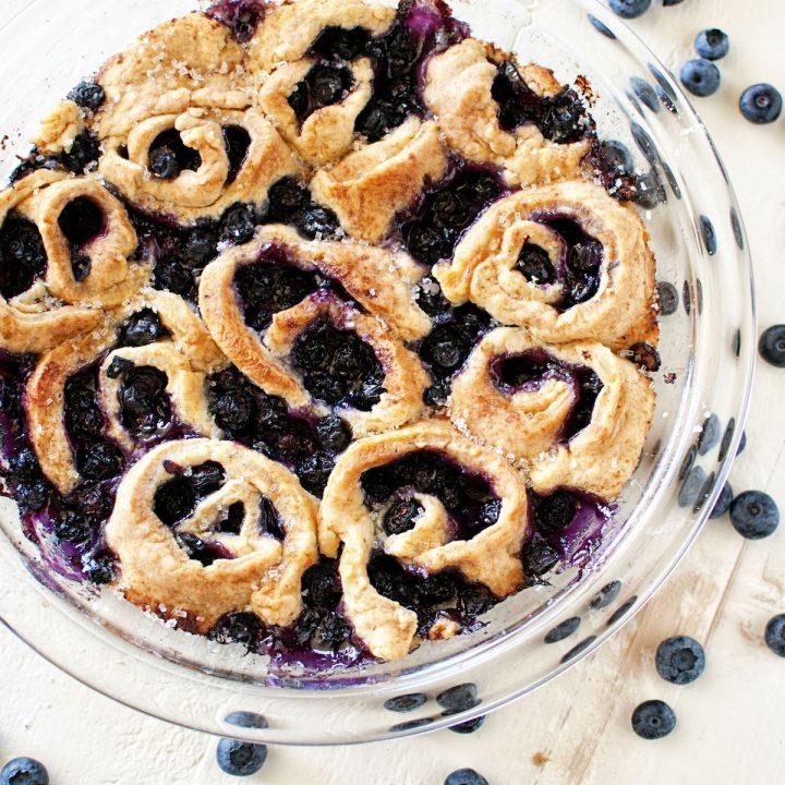Blueberry Limoncello Cobbler