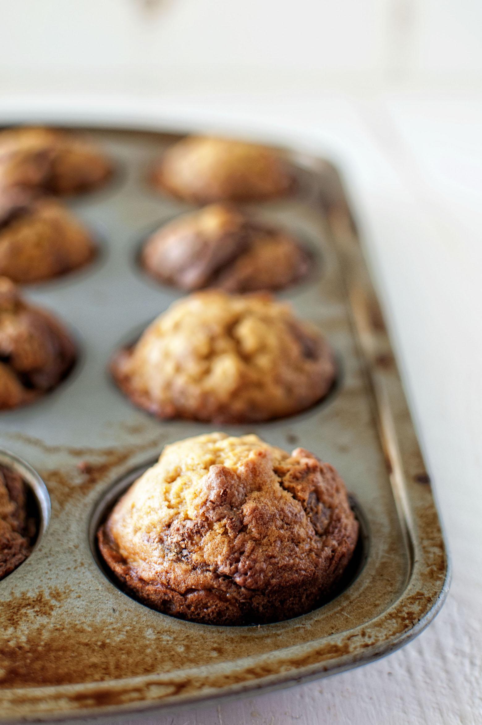 Pumpkin Gingersnap Nutella Muffins