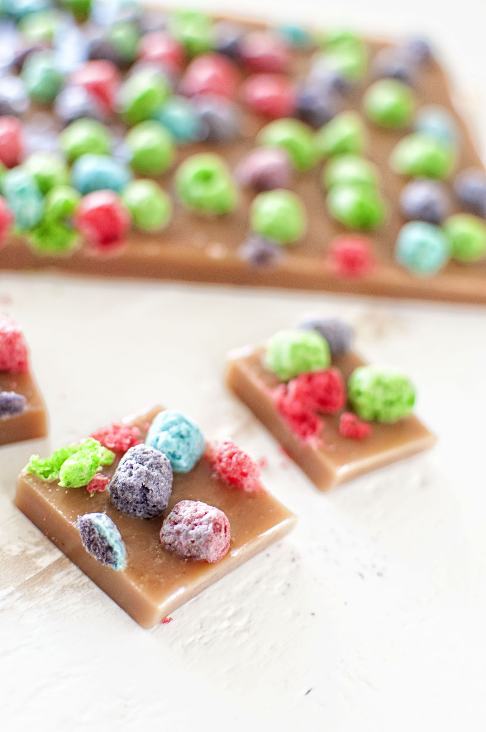 Side view Crunch Berry Caramels