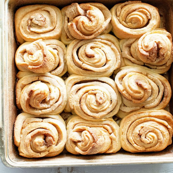 Snickerdoodle Cookie Dough Cinnamon Rolls