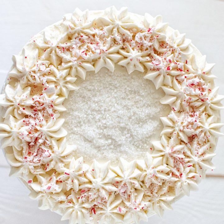 Chocolate Peppermint-White Chocolate Layer Cake