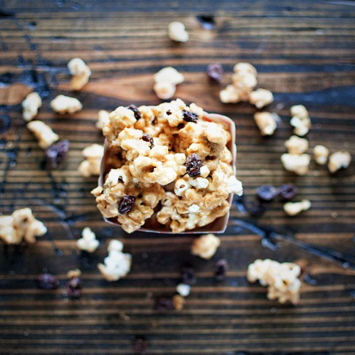 Oatmeal Raisin Cookie Caramel Corn