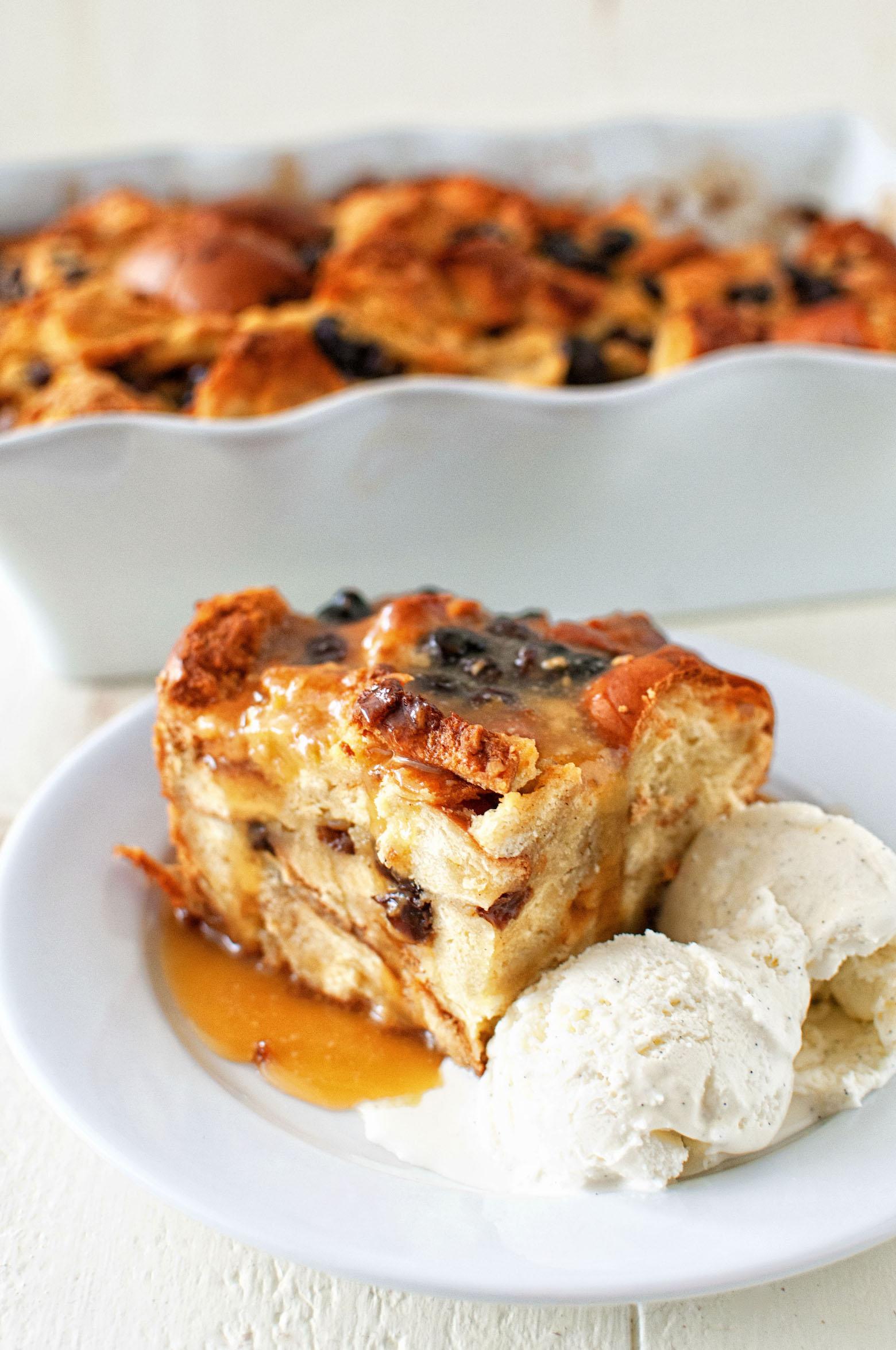 Oatmeal Raisin Cookie Bread Pudding