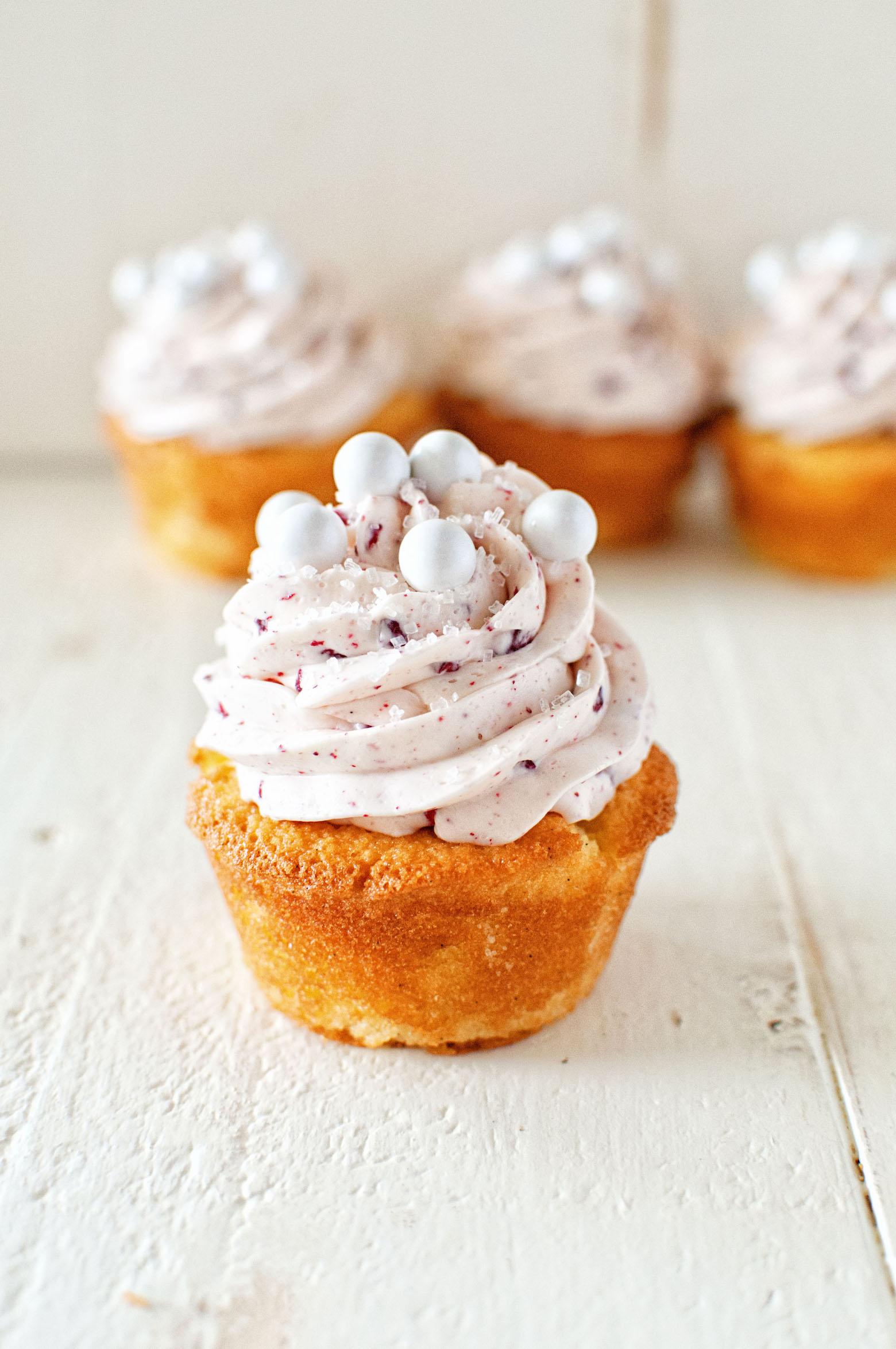 Raspberry Mimosa Cupcakes