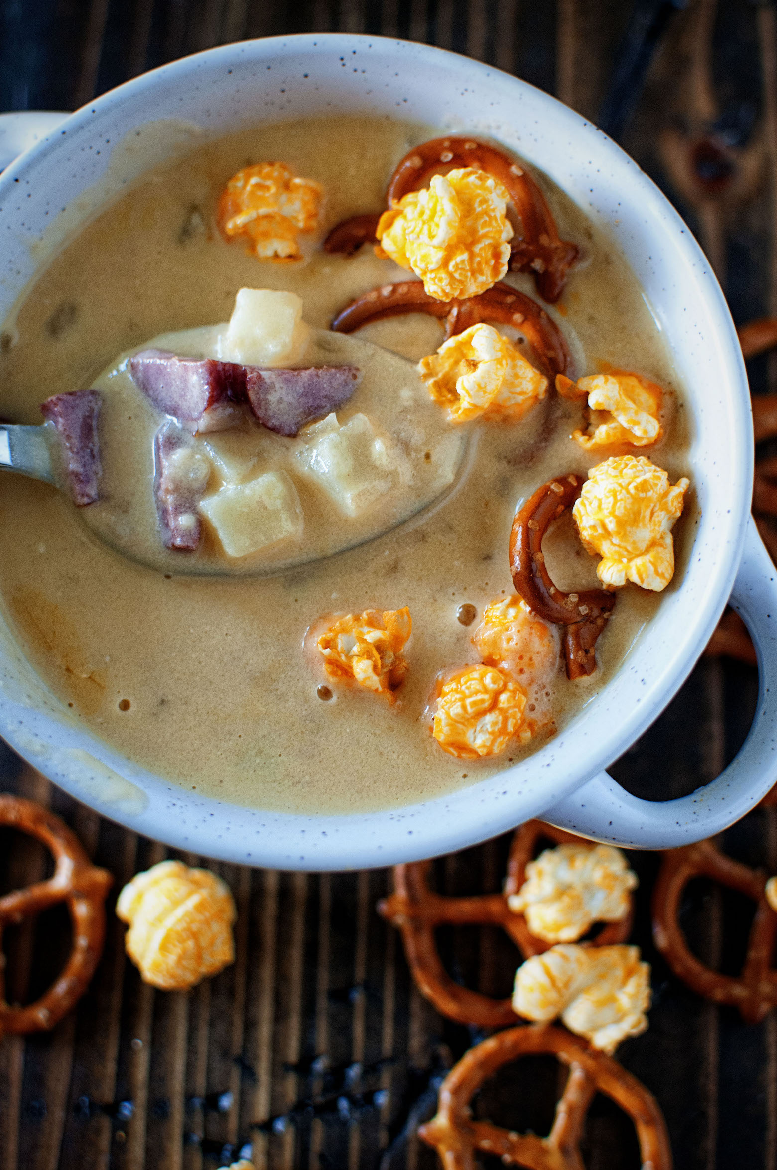 Couch Potato Beer Cheese Soup