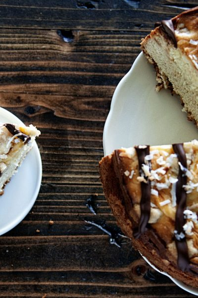 Samoas Cheesecake Coffee Cake