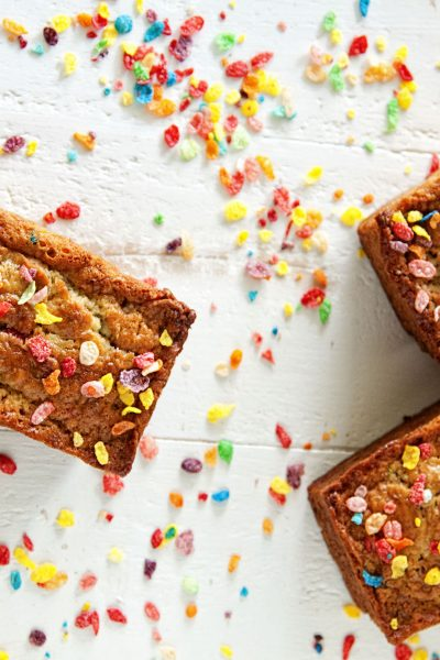 Fruity Pebble Banana Bread
