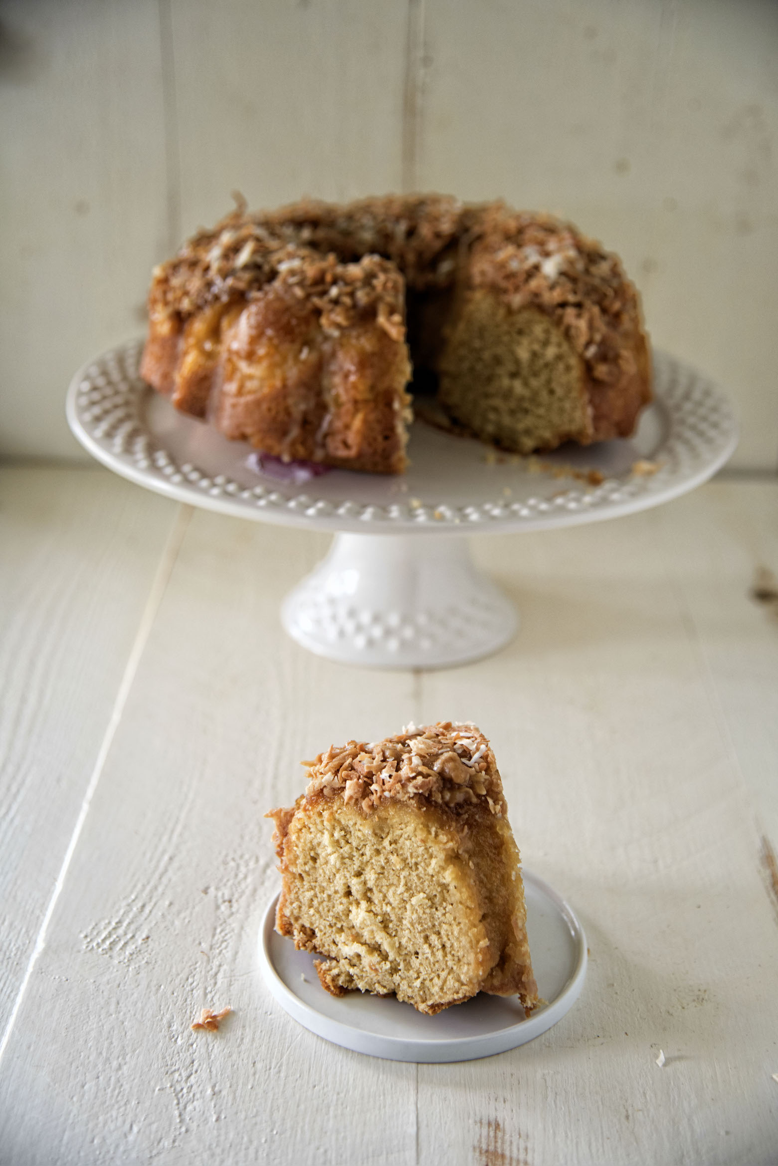 Caramel Rum Pina Colada Bundt Cake