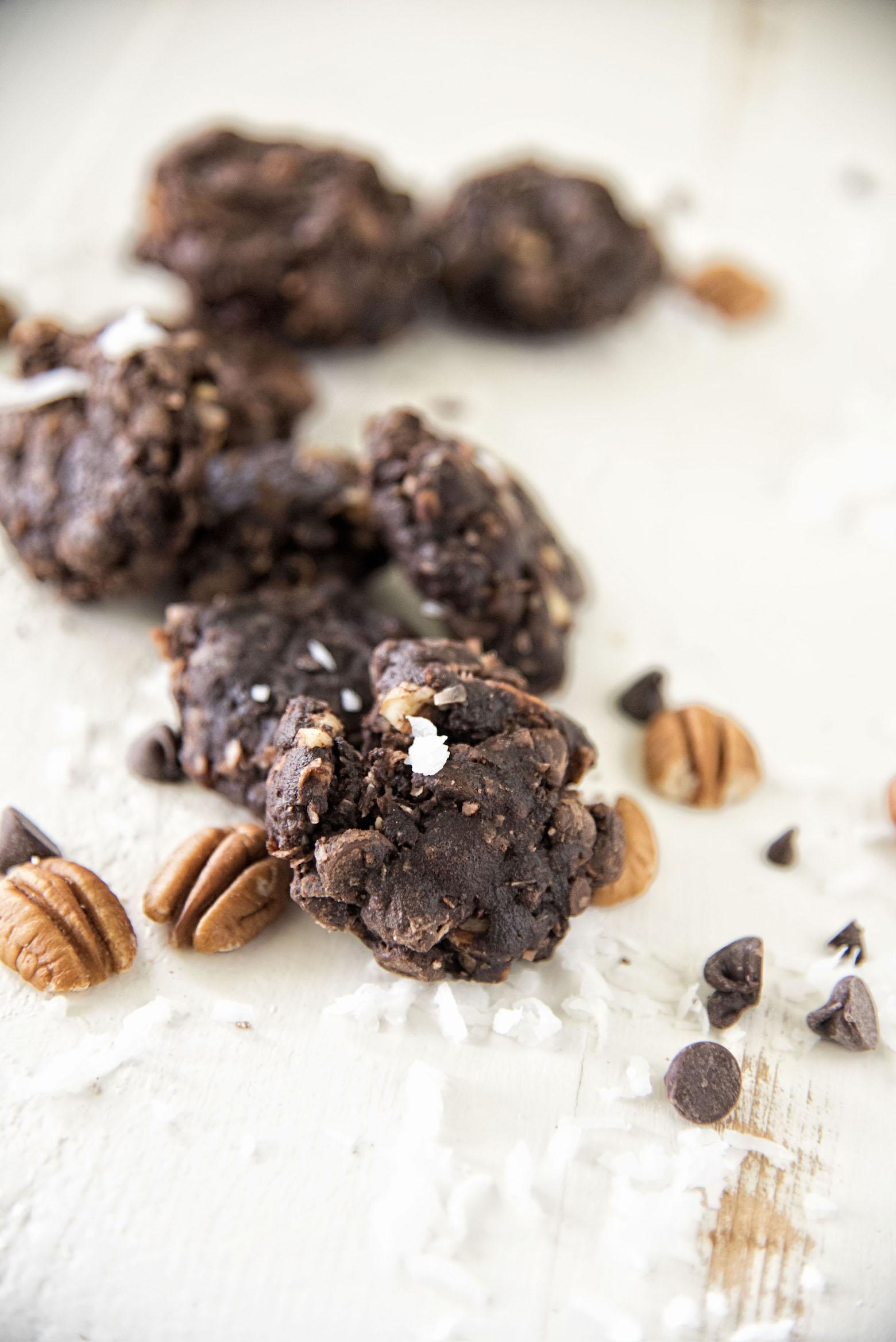 German Chocolate Fudge Cookies
