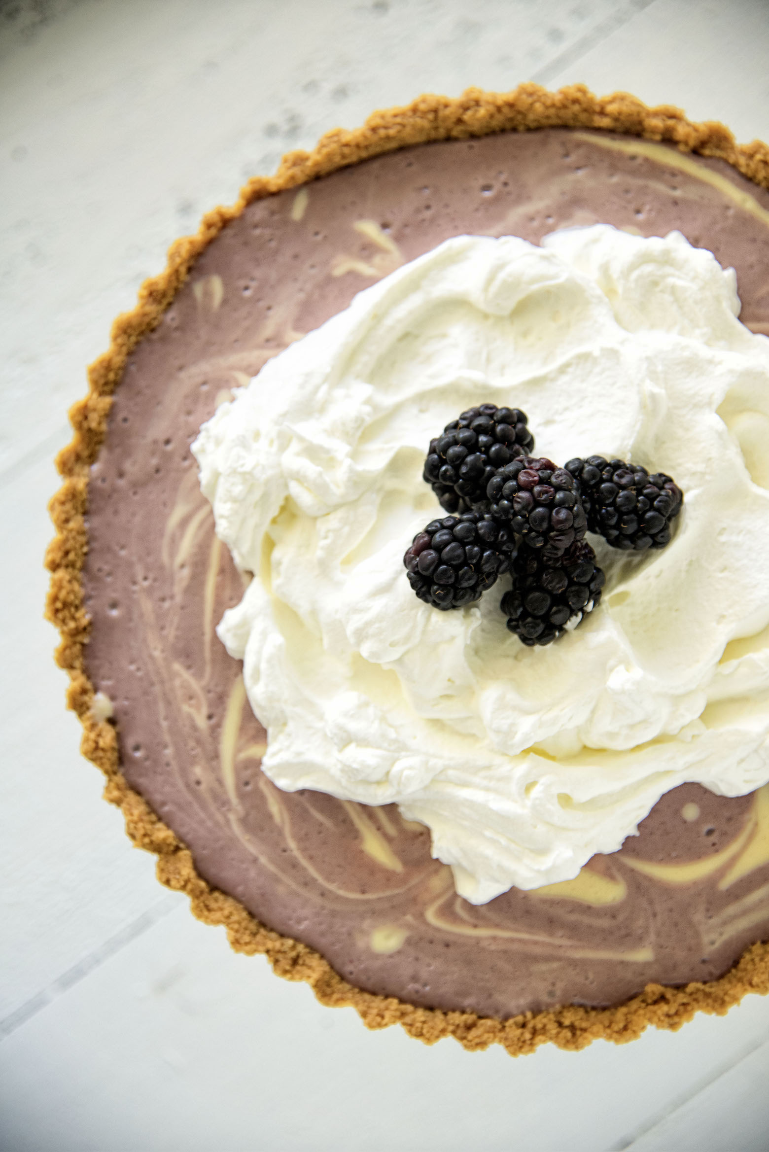 Blackberry Key Lime Tart