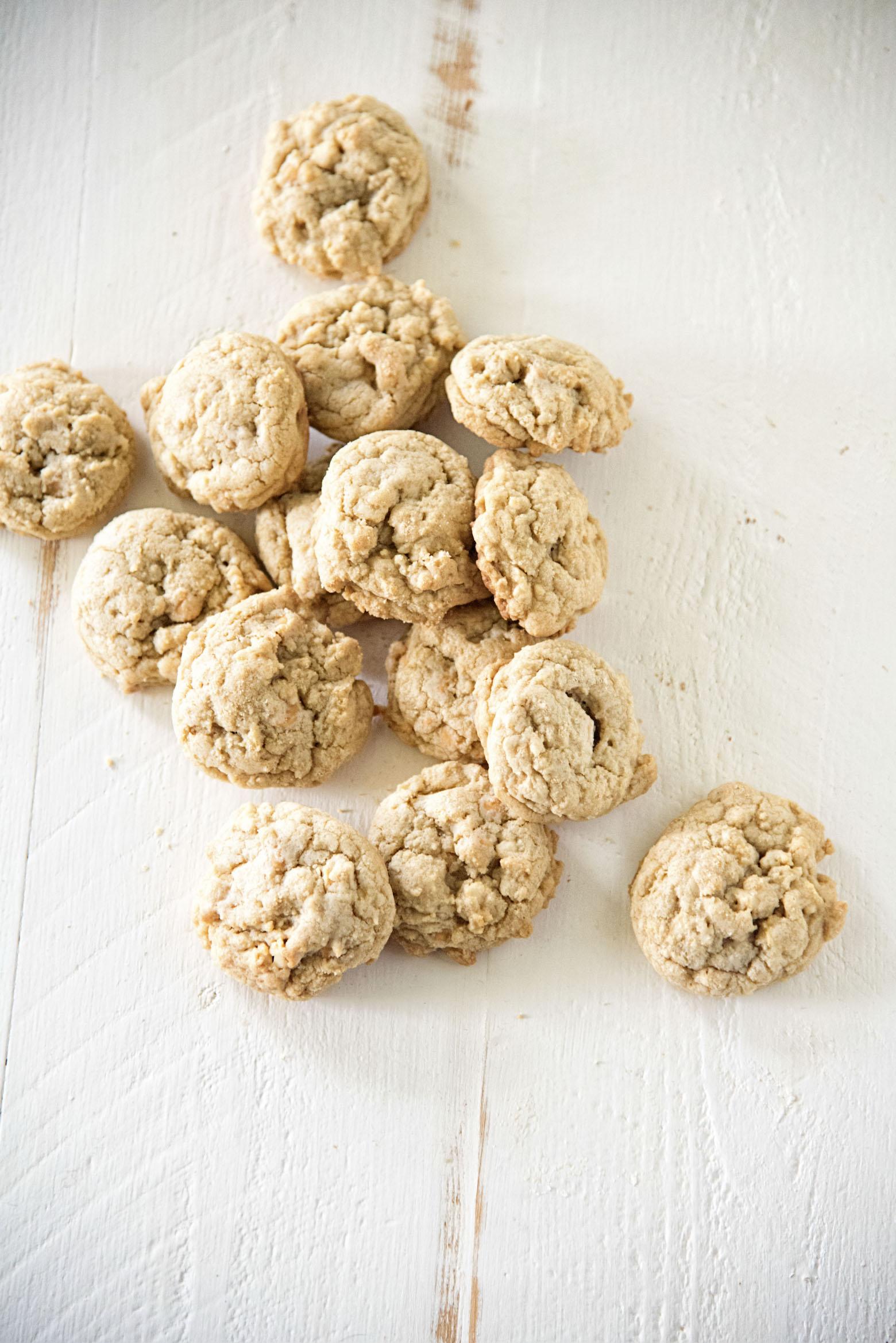 Overhead shot of Butterscotch Salted Cashew Cookies
