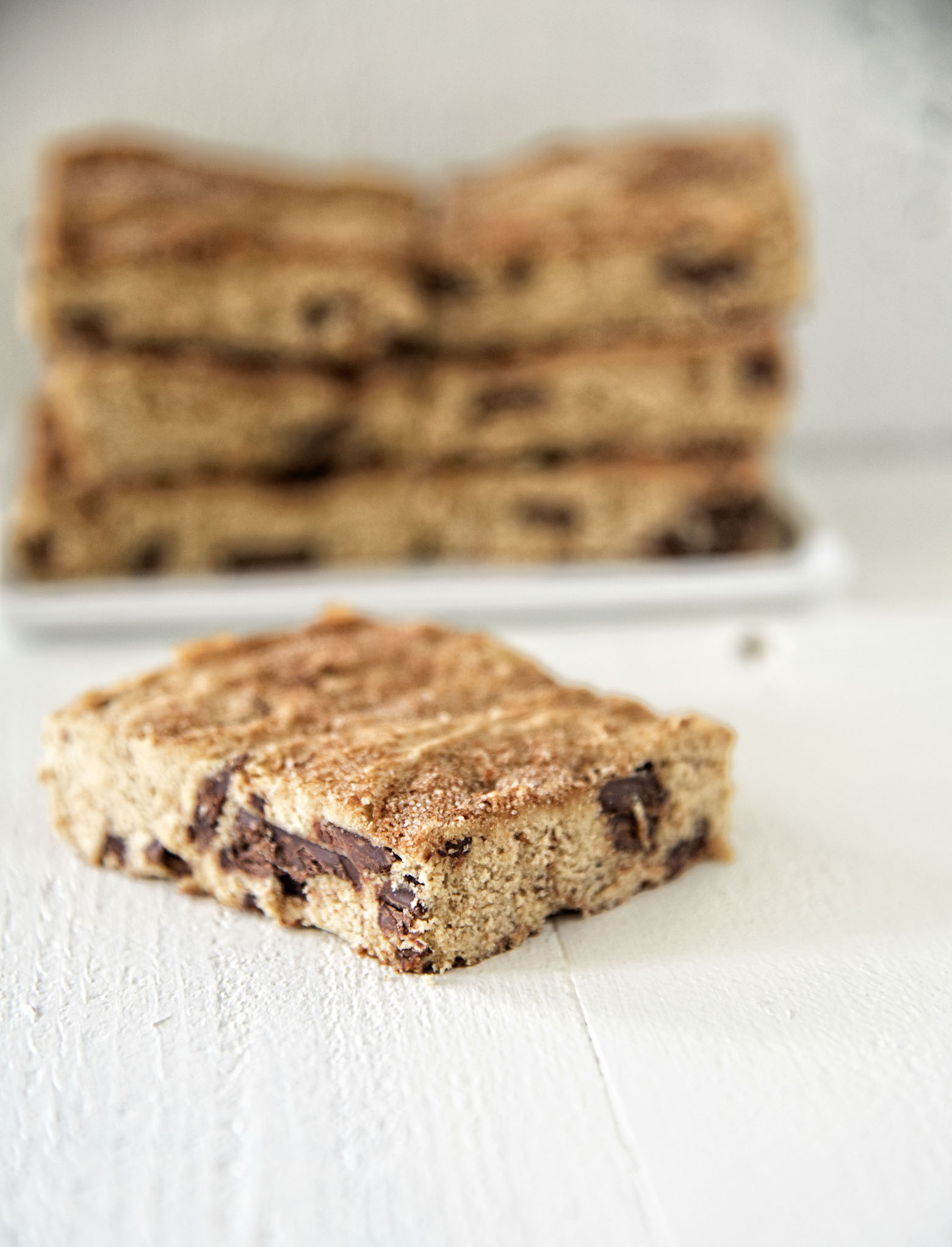 Chocolate Chunk Churro Cookie Bar
