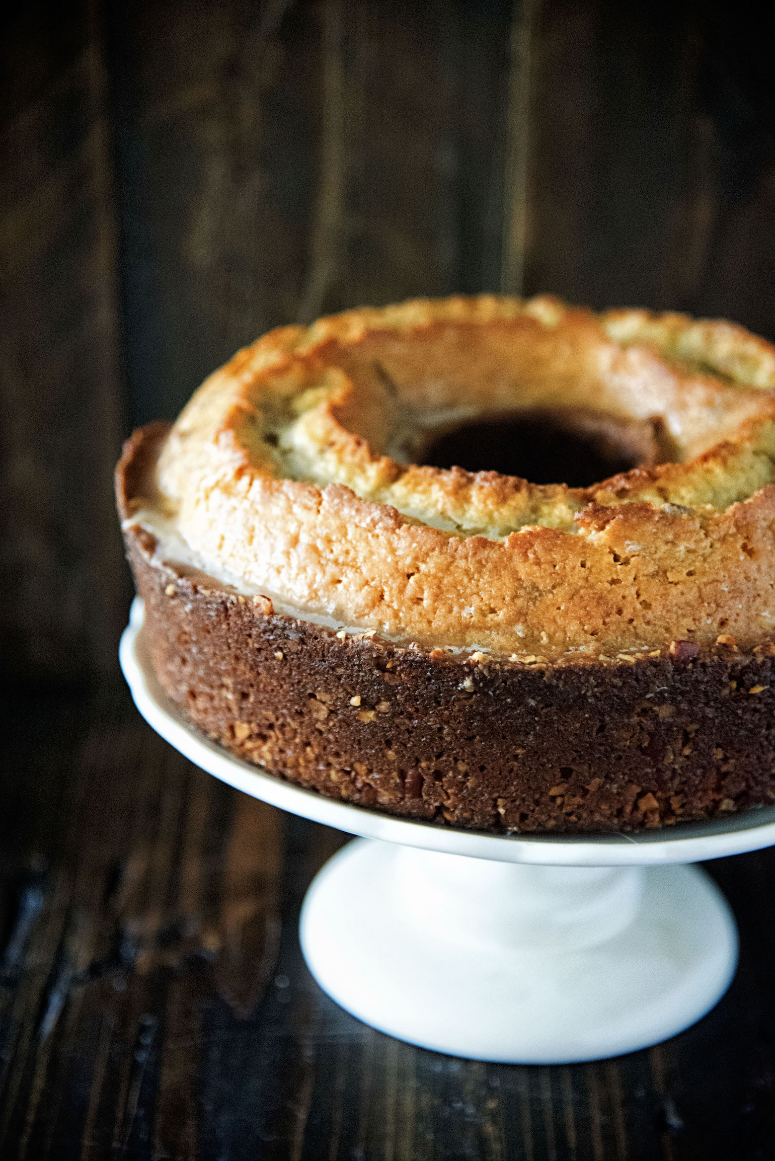 Maple Whiskey Pecan Pound Cake
