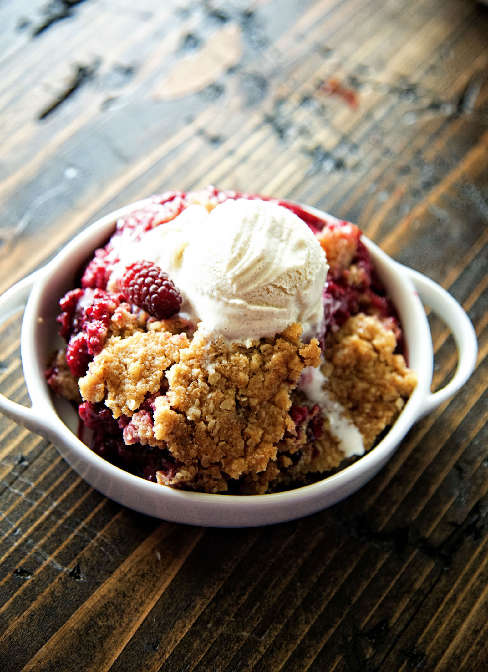 Mixed Berry Oatmeal Cookie Cobbler